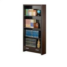 Skylar Contemporary Cappuccino Bookcase