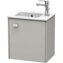 Vanity Unit Wall-mounted, Concrete Gray Matte (decor)