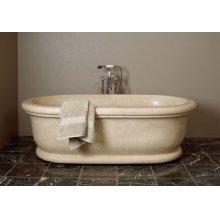 Roman Bathtub Papiro Cream Marble