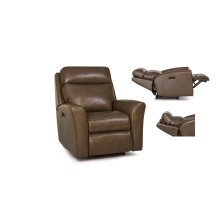 Leather Motorized Reclining Chair / Headrest