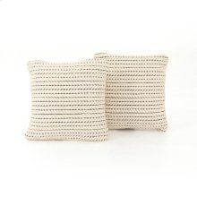 """20x20"""" Size Ari Rope Weave Pillow, Set of 2"""