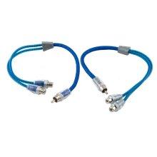 Dual twist Y-Adapter 1 male 2 female