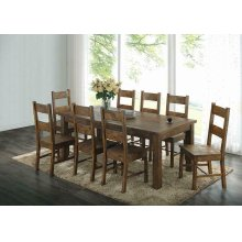 Coleman Rustic Golden Brown Dining Table