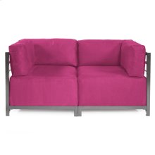 Axis 2pc Sectional Regency Fuchsia Titanium Frame