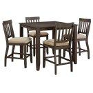Dresbar - Grayish Brown 5 Piece Dining Room Set Product Image