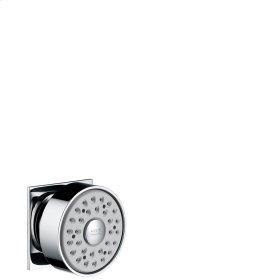 Polished Black Chrome Body shower square 1jet