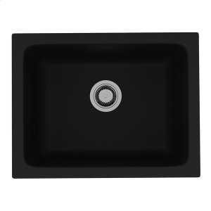 Matte Black Allia Fireclay Single Bowl Undermount Kitchen Or Laundry Sink Product Image
