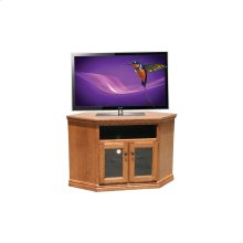 "O-T244 Traditional Oak 46"" Corner TV Console"