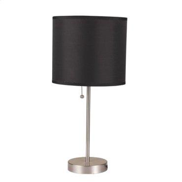 TABLE LAMP W/BLACK SHADE