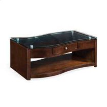 Espresso Coffee Table w/ Casters Product Image