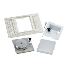 Finish Pack. Fan/Light Assembly and Grille. 70 CFM, 4.0 Sones, 100W light. Uses 654H housing pack.