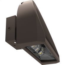 32W LED Adjustable Arc Wall Pack Fixture - Bronze Finish