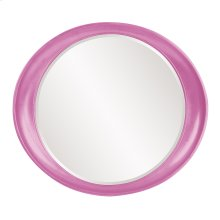 Ellipse Mirror - Glossy Hot Pink