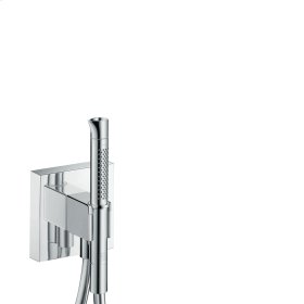 Stainless Steel Optic Porter unit 120/120 with baton hand shower 2jet and shower hose