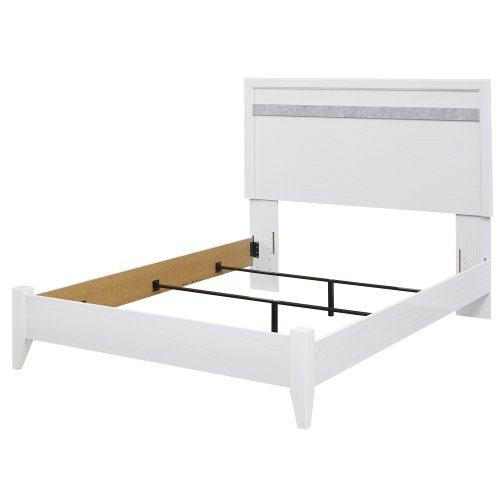 Jallory - White 2 Piece Bed Set (Queen)