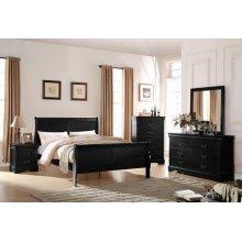 LOUIS PHILIPPE BLACK FULL BED