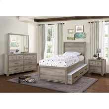 Kids Bed Trundle Accessory in River Birch Brown