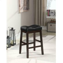 Black and Dark Cherry Upholstered Counter Stool