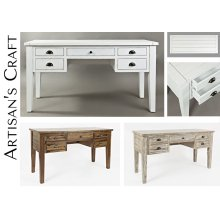 Artisan's Craft 5-drawer Desk - Dakota Oak