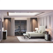 Cal King Tufted Sleigh Bed (4 Pc)