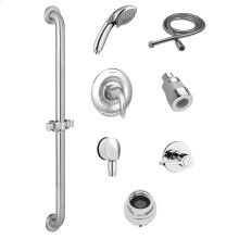 Commercial Shower System Kit with Hand Shower and Fixed Shower Head - 1.5 GPM  American Standard - Polished Chrome