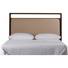 Mulholland Upholstered Headboard - Pecan / Queen