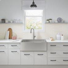 Avery 36 x 20 Single Bowl Farmhouse Sink Kitchen Sink  American Standard - Stainless Steel