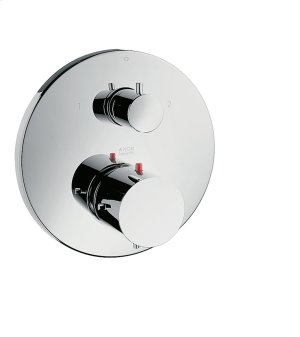 Chrome Thermostat for concealed installation with shut-off/ diverter valve Product Image