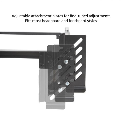 Steelock® Adaptable Hook-In Headboard Footboard Bed Frame Full