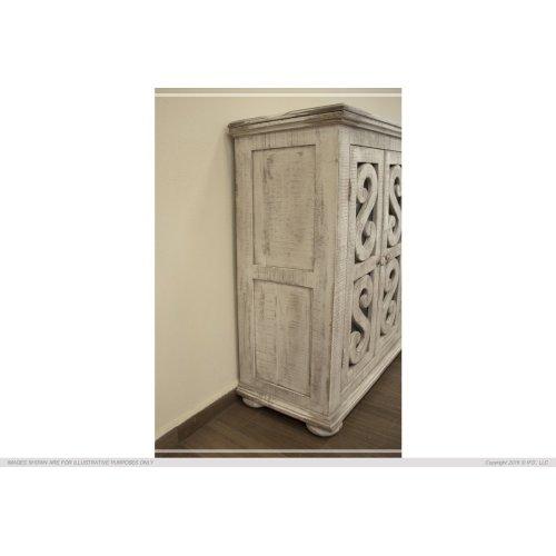 6 Door, Console White Finish