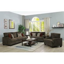 Griffin Casual Brown Loveseat