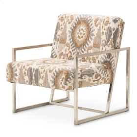 Mission Accent Chair Dst Brushed Silver