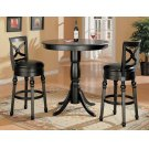 Traditional Black Swivel Bar Stool Product Image
