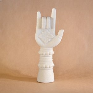 Buddhist Hands & Feet Hand Upright Gesture / White Marble Product Image