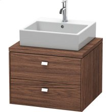 Brioso Vanity Unit For Console, Walnut Dark Decor
