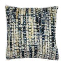 Sasha Feather Cushion Indigo 20x20