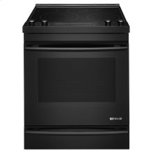 "Black Floating Glass 30"" Electric Range Black"
