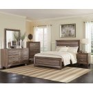 Kauffman Transitional Washed Taupe Queen Bed Product Image