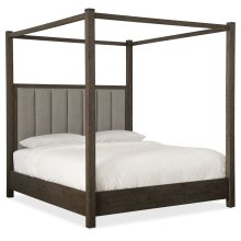 Bedroom Miramar Aventura Jackson Queen Poster Bed w-Tall Posts & Canopy