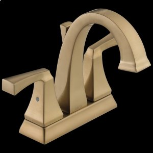 Champagne Bronze Two Handle Centerset Bathroom Faucet Product Image