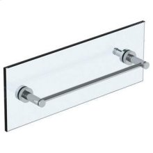 """Loft 2.0 18"""" Shower Door Pull With Knob / Glass Mount Towel Bar With Hook"""