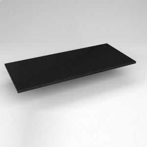 "Engineered Stone 43"" X 19"" X 3/4"" Quartz Dry Vanity Top In Lava Black Product Image"