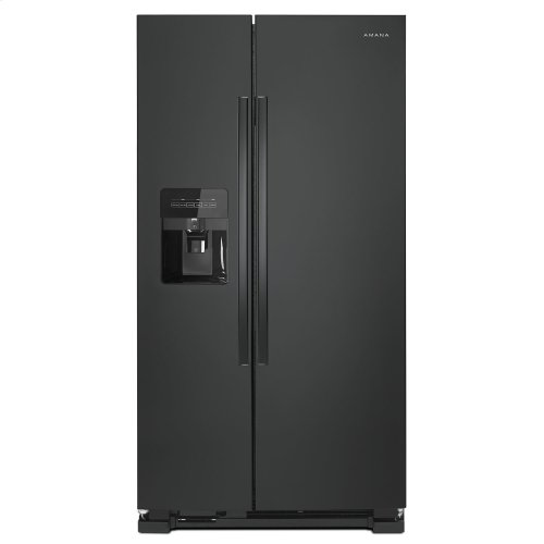 36-inch Side-by-Side Refrigerator with Dual Pad External Ice and Water Dispenser Black
