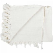 Lemmy Heavy Linen Throw Ivory