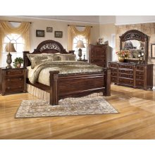Gabriela - Dark Reddish Brown Queen Size 7 Piece Bedroom Set