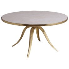 Crystal Stone Round Cocktail Table