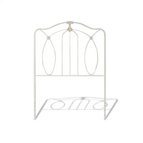 CLEARANCE ITEM--Kaylin Fashion Kids Metal Headboard Panel with Graceful Arches and Medallions Accents, Soft White Finish, Twin