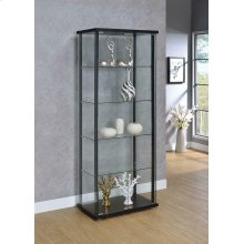 Contemporary Black Curio Cabinet
