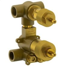 """1/2"""" Mini Thermostatic Valve With Built-in Volume Control and 2-way Diverter"""