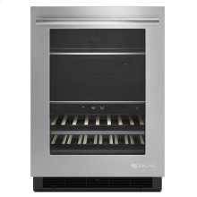 """Euro-Style 24"""" Under Counter Beverage Center Stainless Steel"""